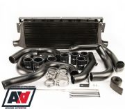 Process West Black Front Mount Intercooler Kit - GD 2001 - 2007